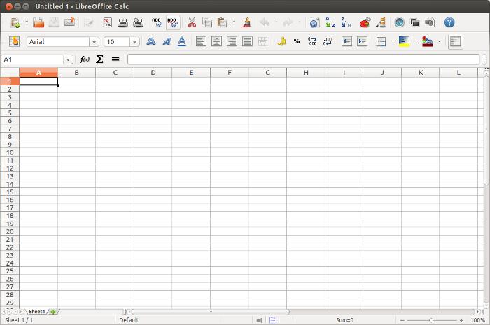 LibreOffice Calc.