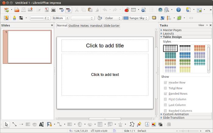 LibreOffice Impress.